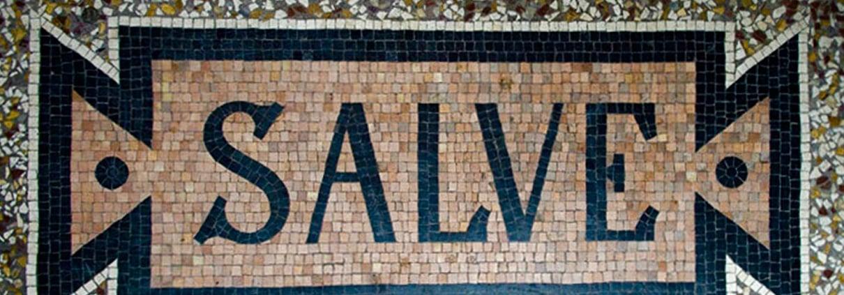 Praxis Eingang Mosaik Salve