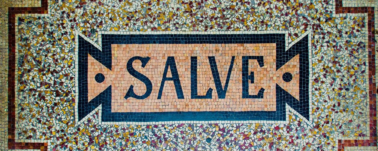 Salve Mosaik Praxiseingang
